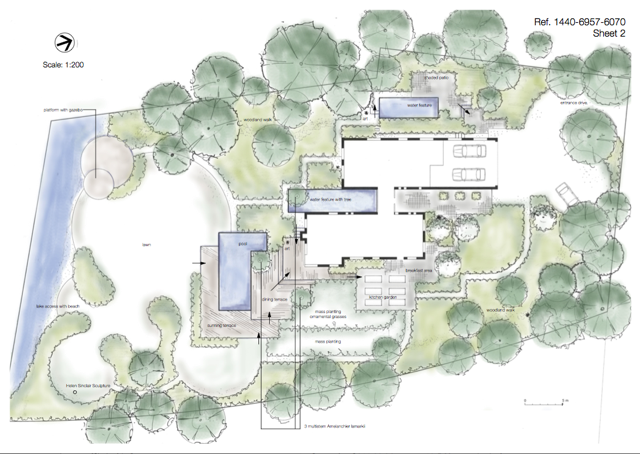 sketch plan magic bavaria - Garden Design John Brookes