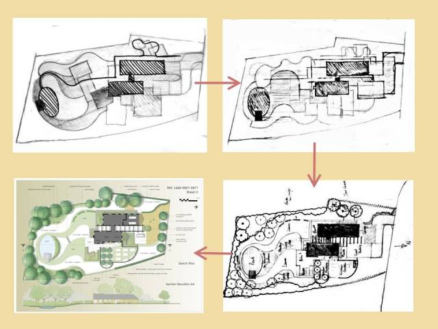 """Sketch Plan Development - """"Sussex Downland Garden"""""""