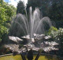 Trebah - bronze fountain